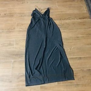 Long Black Strappy Dress size Small